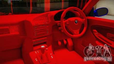 BMW 3 Series E36 Urechea Stelista Edition для GTA San Andreas вид изнутри