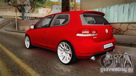 Volkswagen Golf 1.6 для GTA San Andreas вид слева