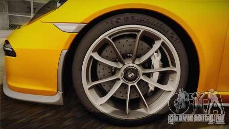 Porsche 911 R 2016 для GTA San Andreas вид сзади слева