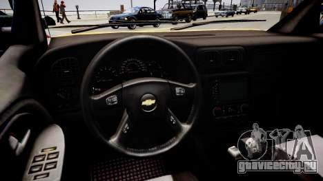Chevrolet TrailBlazer v2.0 для GTA 4 вид изнутри