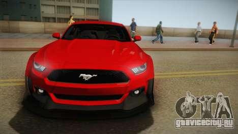 Ford Mustang GT Premium HPE750 Boss 2015 для GTA San Andreas вид сзади