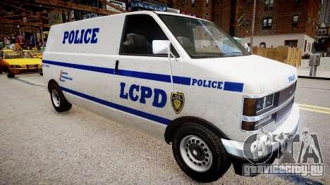LCPD Declasse Burrito Police Transporter для GTA 4