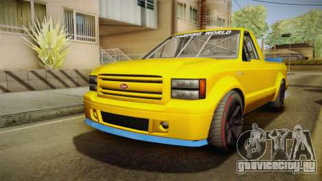 GTA 5 Vapid Sadler Racing для GTA San Andreas вид сзади слева