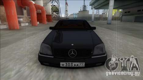 1993 Mercedes-Benz 600SEC для GTA San Andreas вид сзади