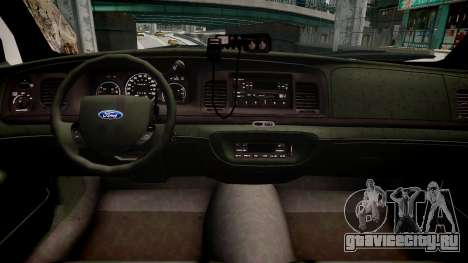 Ford Crown Victoria CVT Detective для GTA 4 вид изнутри