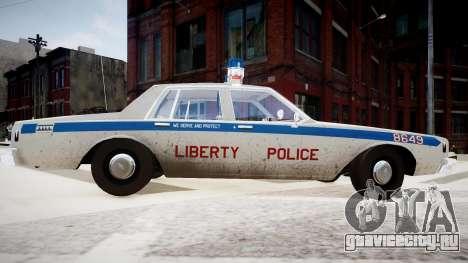 Chevrolet Impala Chicago Police для GTA 4 вид сзади слева