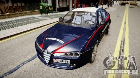 Alfa Romeo 159 Carabinieri для GTA 4 вид сзади слева