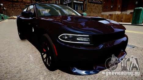 Dodge Charger SRT Hellcat 2015 для GTA 4 вид справа