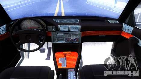 BMW E34 535i для GTA San Andreas вид изнутри