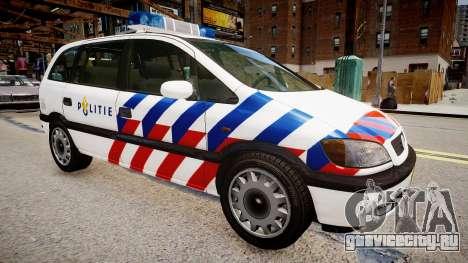 Opel Zafira Police для GTA 4