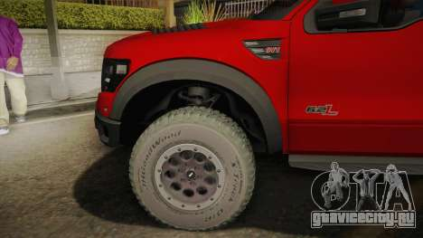 Ford F-150 SVT Raptor Elite 2014 для GTA San Andreas вид сзади слева