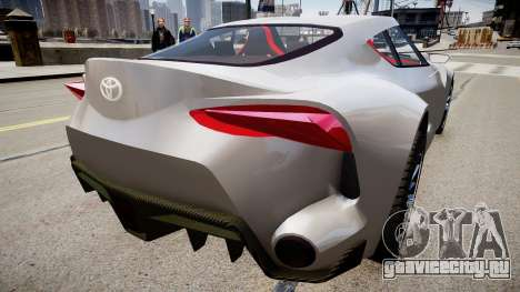 Toyota FTO-1 Concept 2014 для GTA 4 вид сзади слева