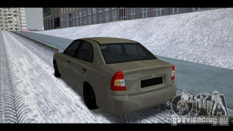 Hyundai Accent Stock для GTA San Andreas вид справа