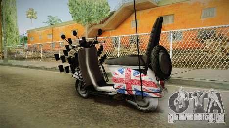 GTA 5 Pegassi Faggio Cool Tuning v4 для GTA San Andreas вид слева