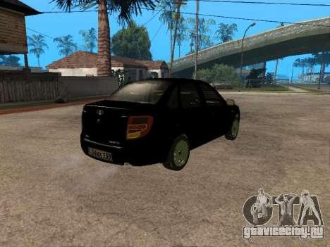 Lada Granta Armenian для GTA San Andreas вид изнутри