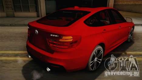 BMW 335i F34 Gran Turismo для GTA San Andreas вид слева