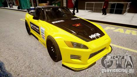 Honda S2000 1998 + Race Vinyl для GTA 4