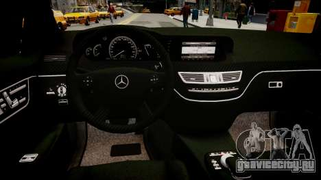 Mercedes Benz Brabus SV12 R 63 Biturbo W221 для GTA 4 вид изнутри
