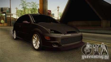 Ford Focus SVT CTG для GTA San Andreas вид справа