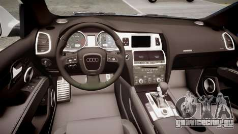 Audi Q7 V12 TDI Quattro Final для GTA 4 вид изнутри