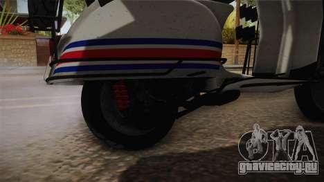 GTA 5 Pegassi Faggio Cool Tuning v2 для GTA San Andreas вид сзади