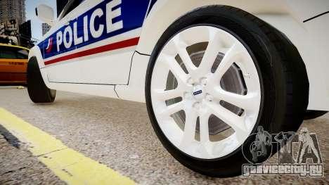 Volvo Police National для GTA 4 вид сзади