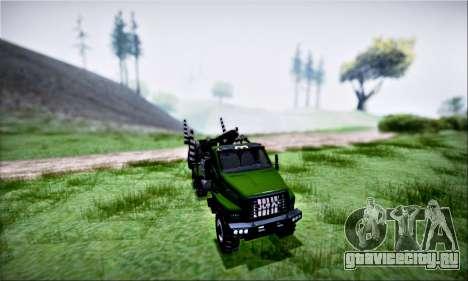 URAL NEXT Лесовоз (IVF) для GTA San Andreas вид сбоку