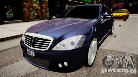 Mercedes Benz Brabus SV12 R 63 Biturbo W221 для GTA 4 вид справа