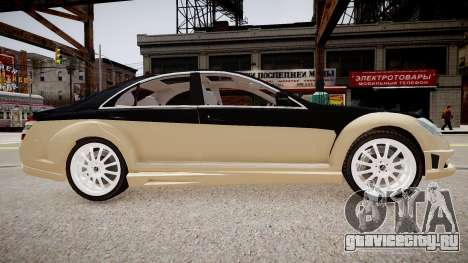Carlsson Aigner CK65 RS Blanchimont 2008 для GTA 4 вид сзади слева