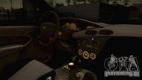 Ford Focus SVT CTG для GTA San Andreas вид изнутри