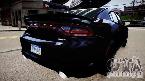 Dodge Charger SRT Hellcat 2015 для GTA 4 вид сзади слева