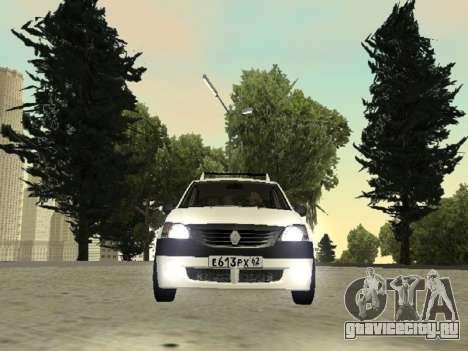 Renault Logan 2007 для GTA San Andreas вид сзади слева