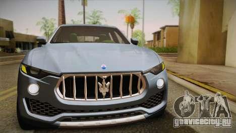 Maserati Levante 2017 для GTA San Andreas вид сверху