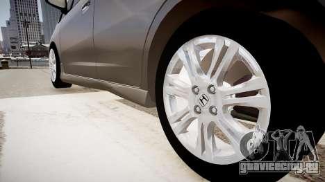 Honda Fit для GTA 4 вид сзади