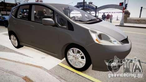 Honda Fit для GTA 4 вид справа