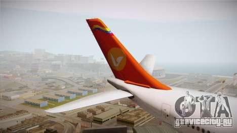 Airbus A340-300 Conviasa для GTA San Andreas вид сзади
