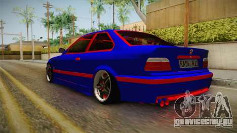 BMW 3 Series E36 Urechea Stelista Edition для GTA San Andreas вид сзади слева