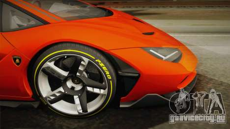 Lamborghini Centenario LP770-4 2017 Painted Body для GTA San Andreas вид сзади слева