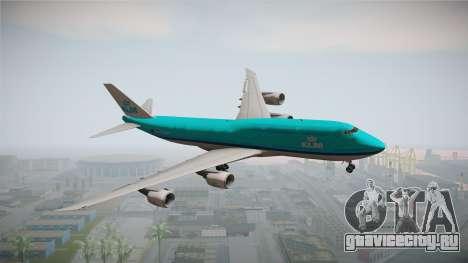 Boeing 747-8i KLM для GTA San Andreas вид сзади слева