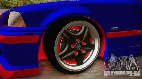 BMW 3 Series E36 Urechea Stelista Edition для GTA San Andreas вид сзади