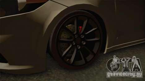 Dodge Dart 2017 для GTA San Andreas вид сзади