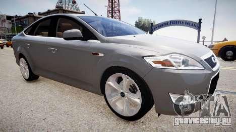 Ford Mondeo 2009 для GTA 4 вид сзади слева