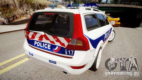 Volvo Police National для GTA 4 вид сзади слева