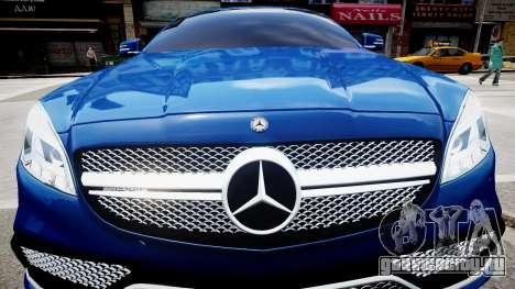 Mercedes-Benz CLS 63 AMG W218 2015 для GTA 4 вид изнутри