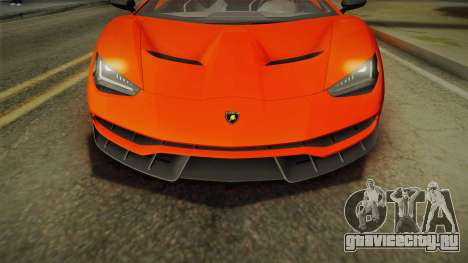 Lamborghini Centenario LP770-4 2017 Painted Body для GTA San Andreas вид справа