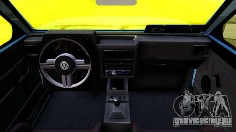 Volkswagen Saveiro для GTA San Andreas вид изнутри