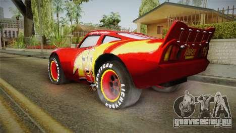 Cars 3 - McQueen для GTA San Andreas вид слева