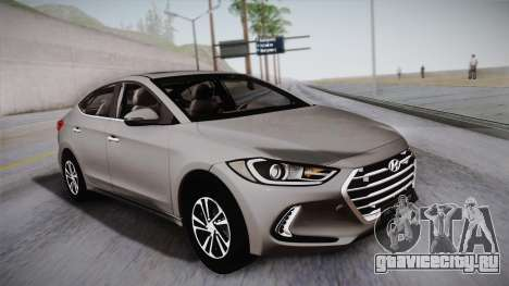 Hyundai Elantra 2017 для GTA San Andreas