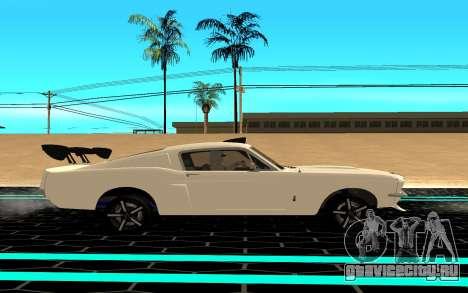 Shelby Mustang GT500 для GTA San Andreas вид слева