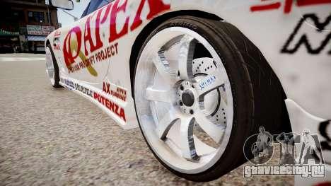 Mazda RX-7 APEXi для GTA 4 вид сзади
